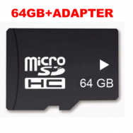 64GB Micro SD Card TF Memory (med adapter)