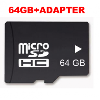 64GB Micro SD Card TF Memory (med adapter) - smartviking.no