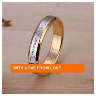 Gullbelagt med Sølv Ring