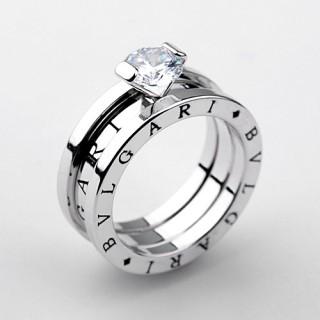 White Gold Plated Luksus Ring - smartviking.no