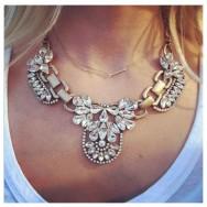 Elegant Halsbånd med Krystaller
